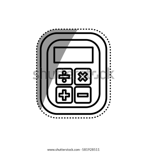 Calculator device isolated icon vector illustration graphic design