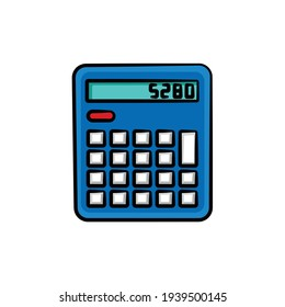 Calculator in drawing style isolated vector. Hand drawn object illustration for your presentation, teaching materials or others.