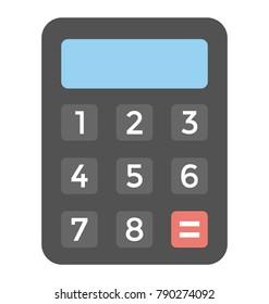Calculator Flat Colored Icon