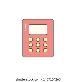 Calculator Flat Icon Vector for Office, School, Business and Finance