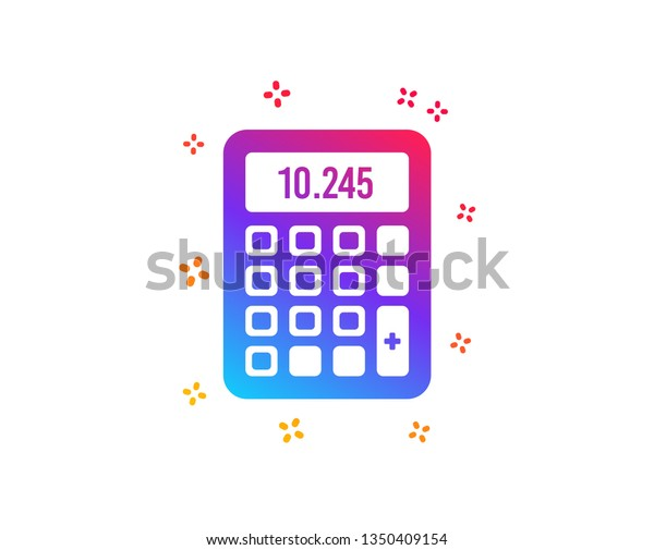 Calculator Icon Accounting Sign Calculate Finance Stock Vector Royalty Free 1350409154