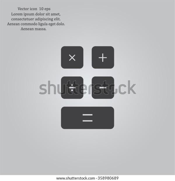 Calculator icon. Flat design style. Eps 10