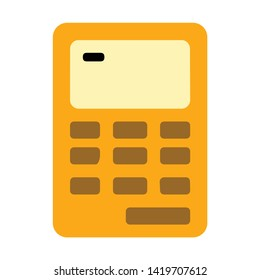 calculator icon. flat illustration of calculator vector icon for web