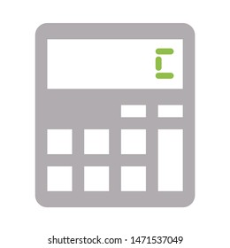 calculator icon. flat illustration of calculator - vector icon. calculator sign symbol