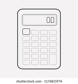 Calculator icon line element. Vector illustration of calculator icon line isolated on clean background for your web mobile app logo design.