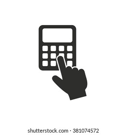 Calculator  icon  on white background. Vector illustration.