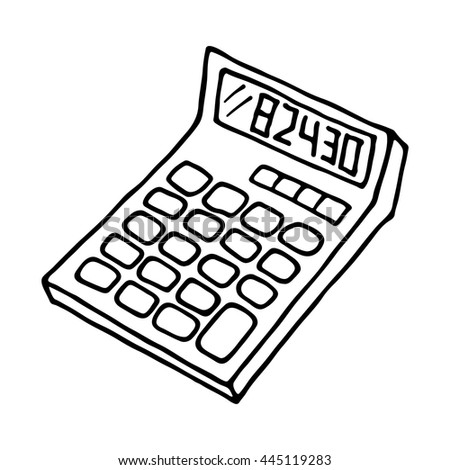 Calculator Icon Outlined On White Background Stock Vector Royalty