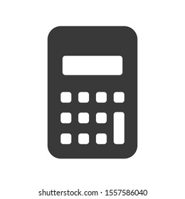 Calculator icon in simple vector format