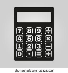 The calculator icon. Calculator symbol. Flat. Vector illustration