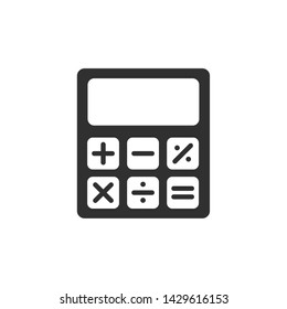 Calculator icon template black color editable. Calculator symbol Flat vector sign isolated on white background. Simple vector illustration for graphic and web design.