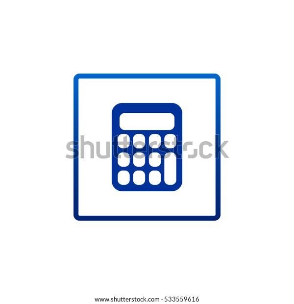 calculator icon vector.