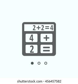 calculator Icon, vector, icon flat