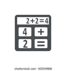 Calculator Icon Vector flat design style