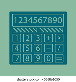 Calculator icon vector in flat style.