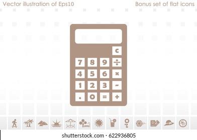 Calculator icon. Vector illustration eps10.