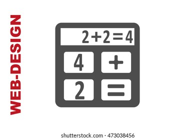 Calculator Icon Vector, portfolio author web-design