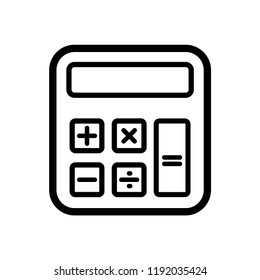 calculator icon vector template