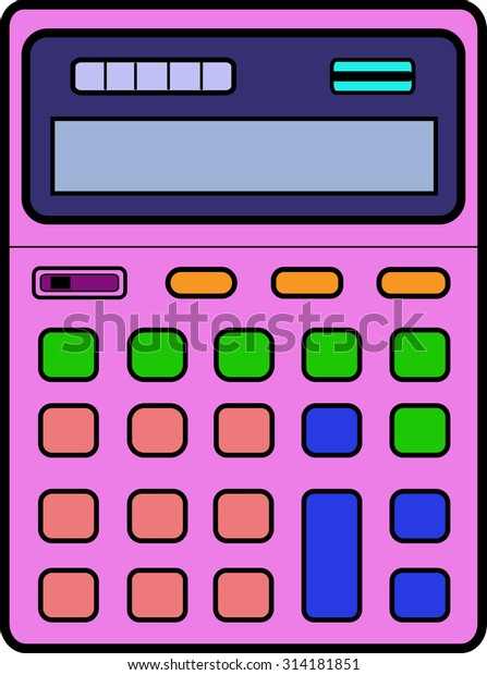 Calculator Kids Pink Stock Vector (Royalty Free) 314181851