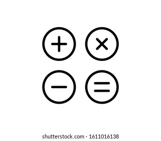 Calculator line icon. High quality outline symbol for web design or mobile app. Thin line sign for design logo. Black outline pictogram on white background