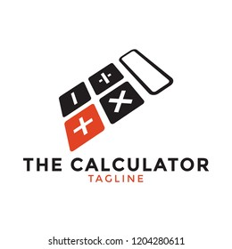 Calculator logo icon design template vector