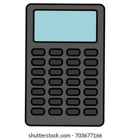 calculator math isolated icon