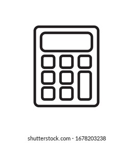 calculator math line style icon vector illustration design