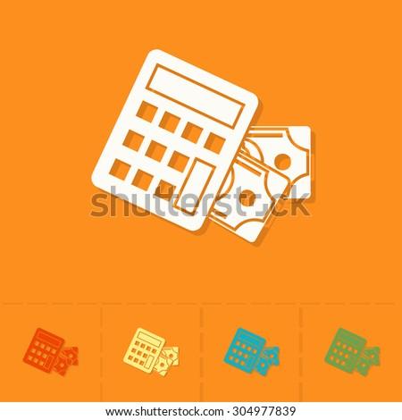 calculator money business finance single flat stock vector royalty
