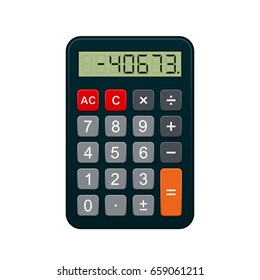 Calculator, realistic vector illustration isolated on white background.