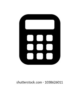Calculator Vector Icon. Education Logo Template