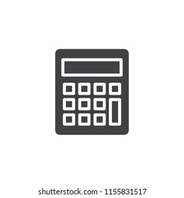 Calculator vector icon. filled flat sign for mobile concept and web design. Accounting simple solid icon. Symbol, logo illustration. Pixel perfect vector graphics