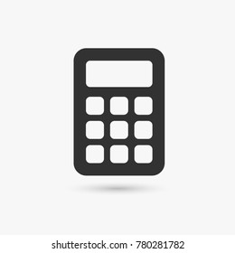 Calculator vector icon in the flat style.