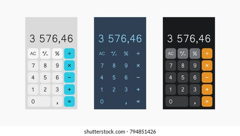 calculator vector illustration on white background, calculator design