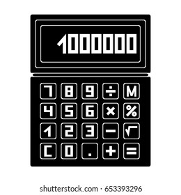 Calculator.Realtor single icon in black style vector symbol stock illustration web.