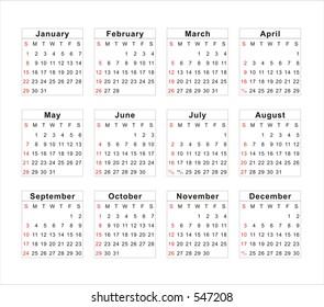 2006 Calendar Stock Vectors Images Vector Art Shutterstock