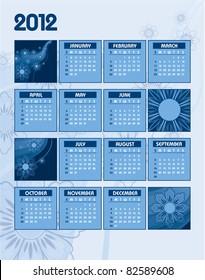 Calendar for 2012. Eps10.