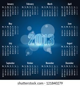 Calendar 2013. Vector illustrations