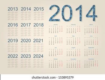 2016 2022 2023 Calendar.2015 2016 2017 2018 2019 2020 2021 Hd Stock Images Shutterstock