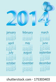 calendar for 2014 with  butterfly
