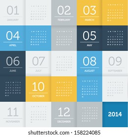 calendar 2014 - square pattern - flat color