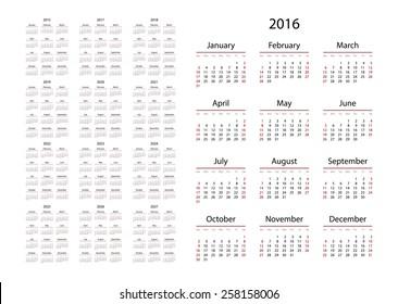 2016 2022 2023 Calendar.2015 2016 2017 2018 2019 2020 2021 2022 2023 Hd Stock Images Shutterstock