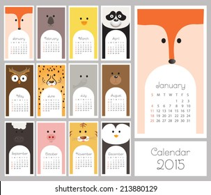 Calendar 2015. Vector illustration