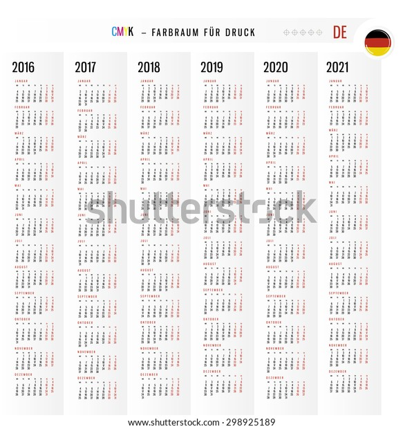 Calendar For 2016 And 2020 And 2021 Background