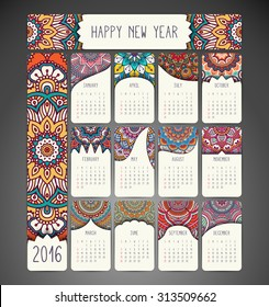 Arabic calendar images stock photos vectors shutterstock calendar 2016 vintage decorative elements ornamental floral business cards oriental pattern vector reheart Image collections