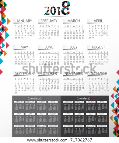 calendar for 2017 2018 2019 year editable template poster and calendar design