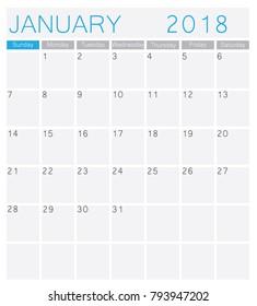 Calendar 2018 template design