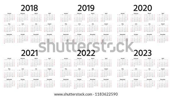 Vector de stock (libre de regalías) sobre Calendario 2019, 2018