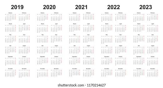 Calendario Premier 2021 2022 2019 2020 2021 Calendar HD Stock Images | Shutterstock