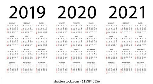 2019 2020 2021 Calendar High Res Stock Images | Shutterstock