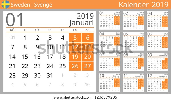 Calendar 2019 Sverige