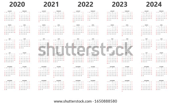 Vector de stock (libre de regalías) sobre Calendario 2020, 2021